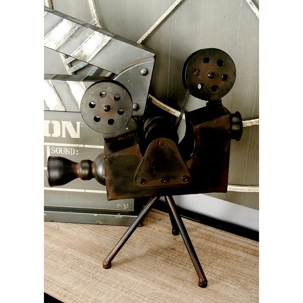 12 in. x 15 in. Vintage Decorative Metal Movie Camera
