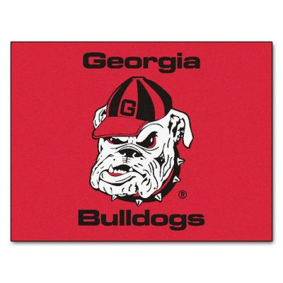 NCAA University of Georgia Red 3 ft. x 4 ft. Rectangle Indoor All-Star Area Rug