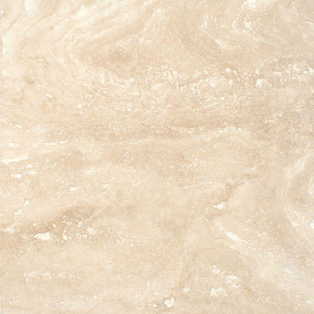 MSI Ivory 12 in. x 12 in. Honed Travertine Floor and Wall Tile (5 sq ...