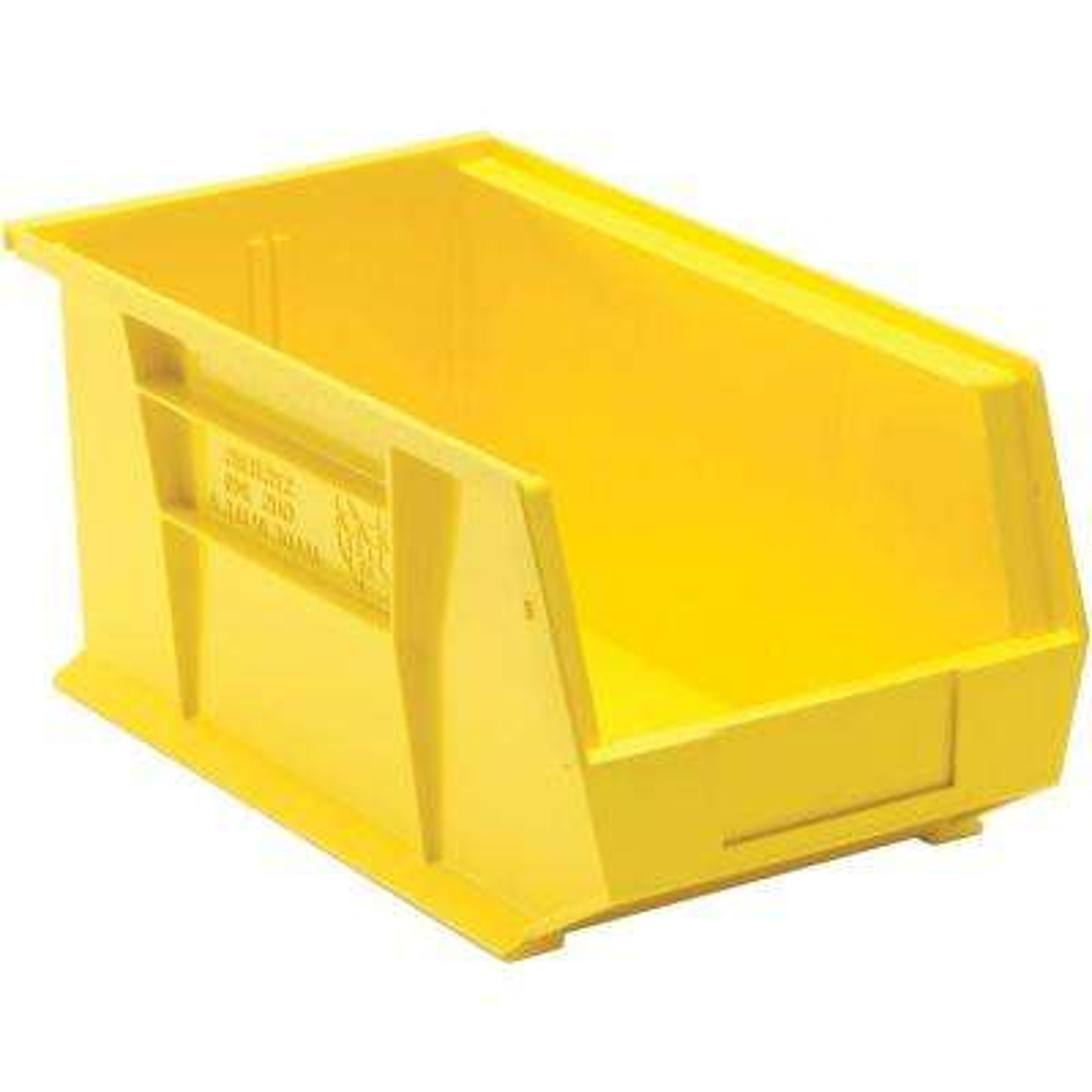 3.4 Gal. Stackable Plastic Storage Bin in Yellow (12-Pack)