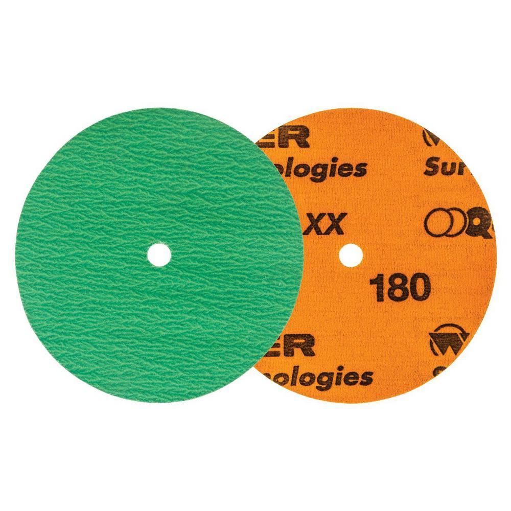 QUICK-STEP XX 4.5 in. x GR180 Velcro Sanding Discs (25-Pack)