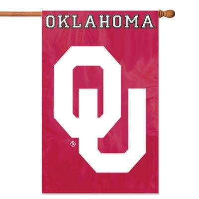 Oklahoma Sooners Applique Banner Flag