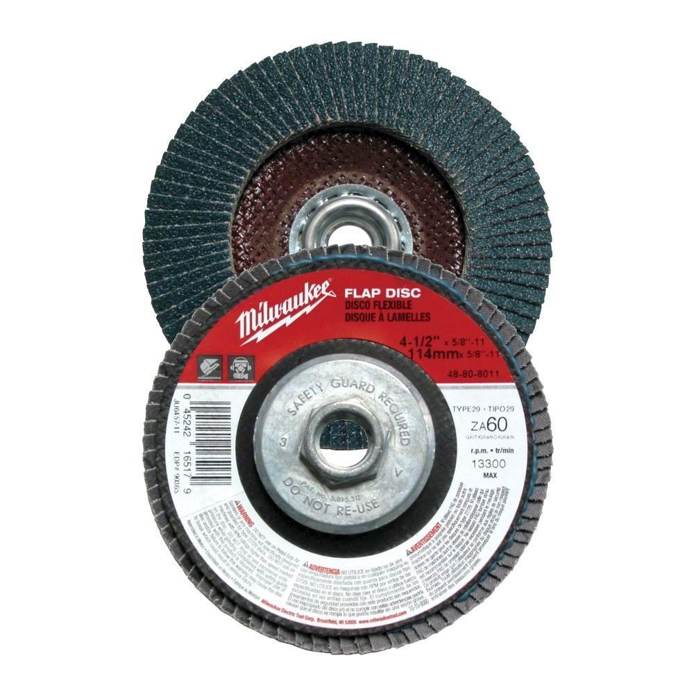 4-1/2 in. x 5/8 in.-11 in. 80-Grit Flap Disc (Type 29)