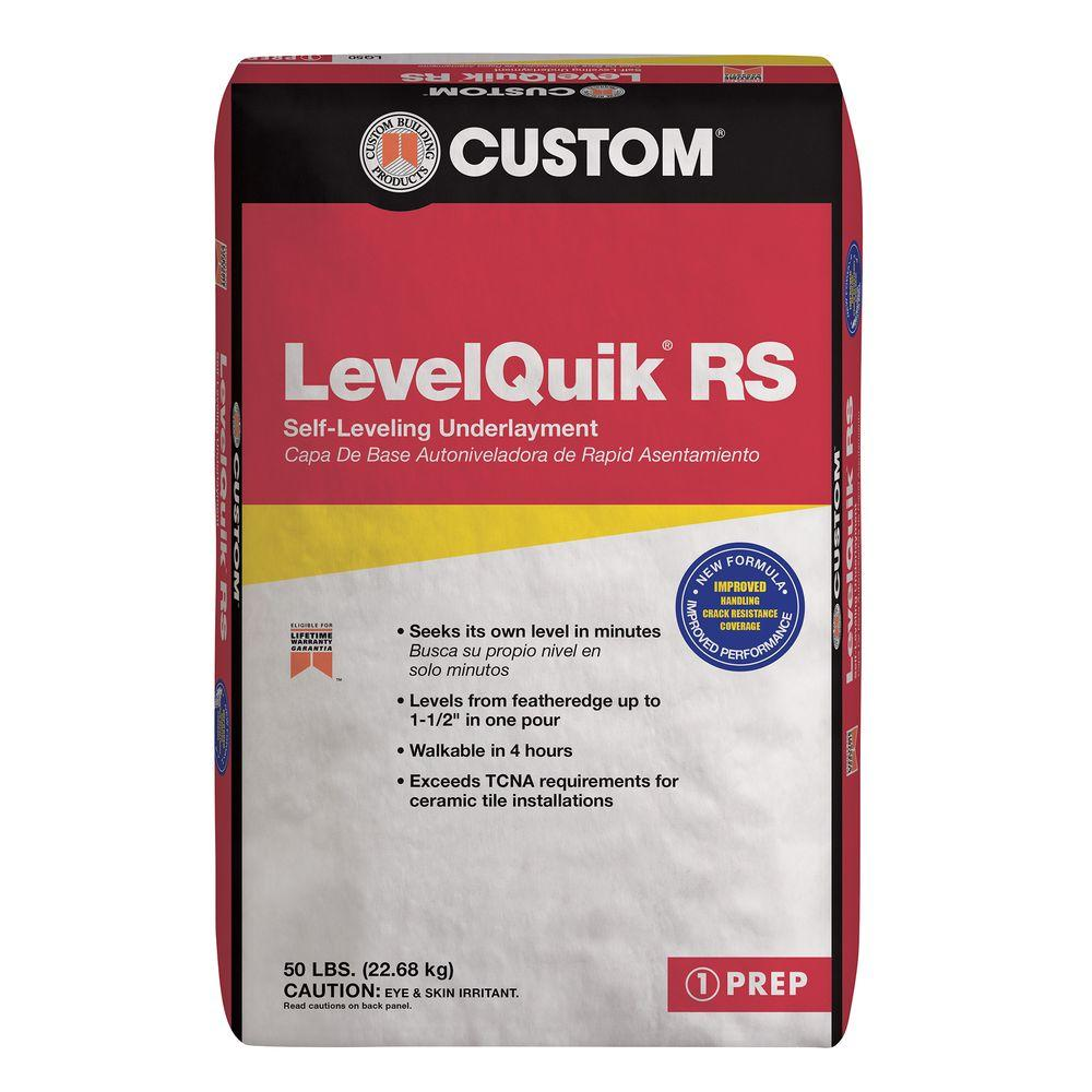 Custom Building Products Levelquik Rs 50 Lb Self Leveling Underlayment