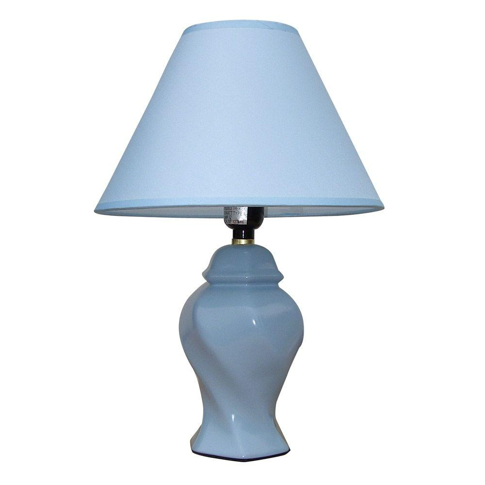 Ceramic Blue Table Lamp 606BL   The Home Depot