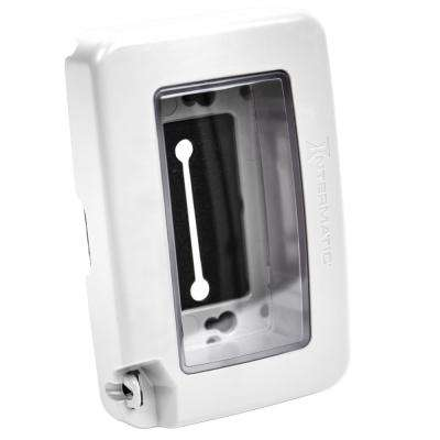WP6000 Plastic White Single-Gang Low-Profile In-Use Weatherproof Cover 8 Configurations
