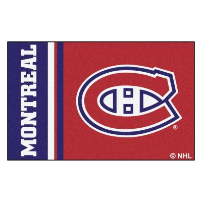 NHL Montreal Canadiens Red 1 ft. 7 in. x 2 ft. 6 in. Rectangular Area Rug