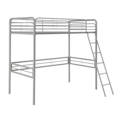 Olivia Silver Twin Metal Loft Bed