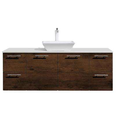 D Vanity In Rosewood With Wood