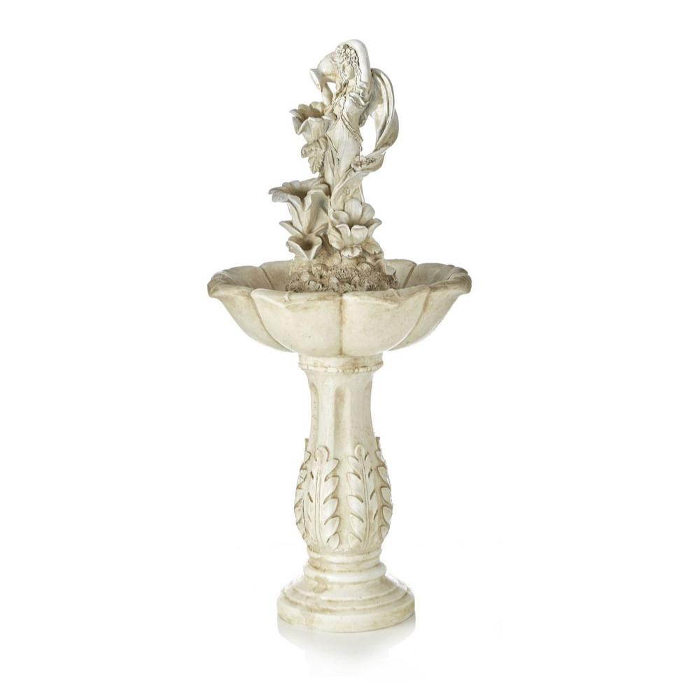 Serena Garden Co  Maiden Cordless Fountain in White