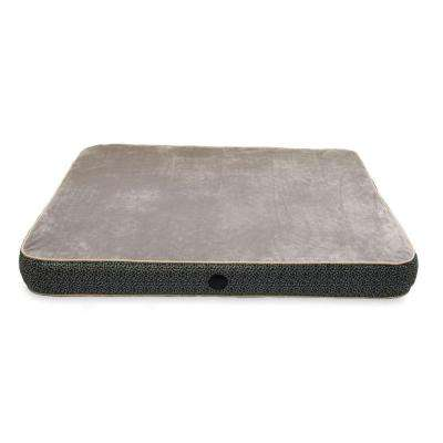Superior Orthopedic Large Gray Paw Bone Print Dog Bed