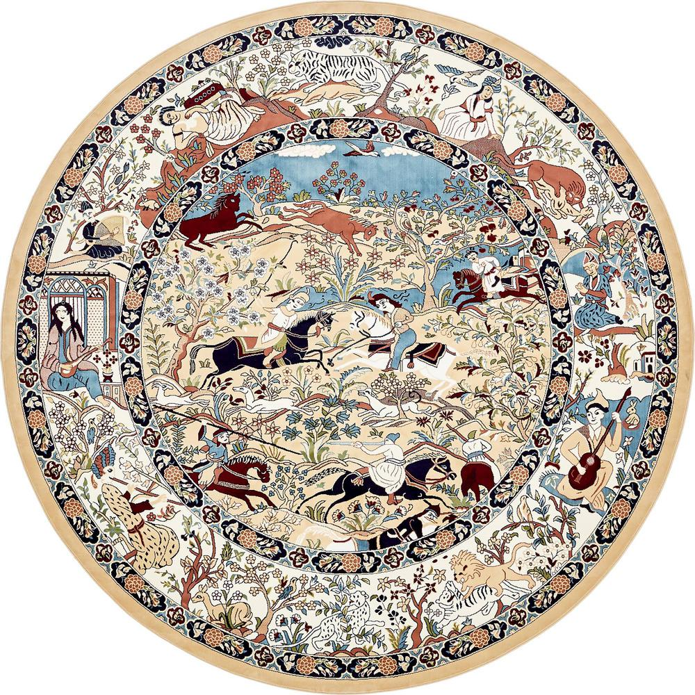 Unique Loom Narenj Tan 10 X 10 Round Rug 3136992 The