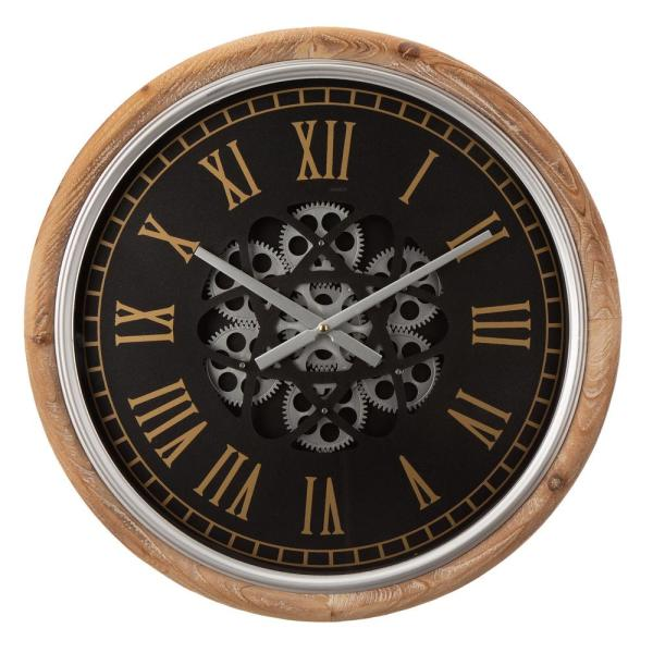 20.47 in. D Vintage Industral Metal Wall Clock with Moving Gears