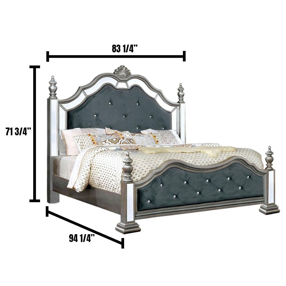 Azha in Silver California King Bed