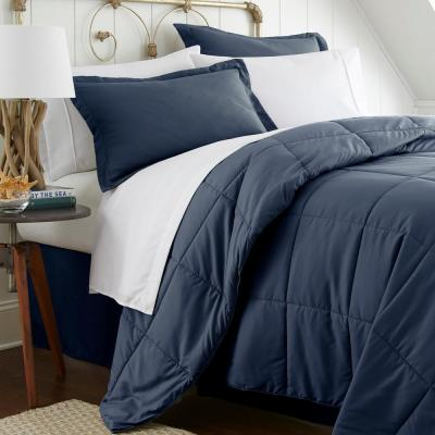 Performance 6-Piece Navy Twin XL Bed in a Bag Set
