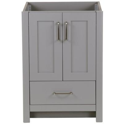 Westcourt 24 in. W x 22 in. D x 34 in. H Bath Vanity Cabinet Only in Sterling Gray