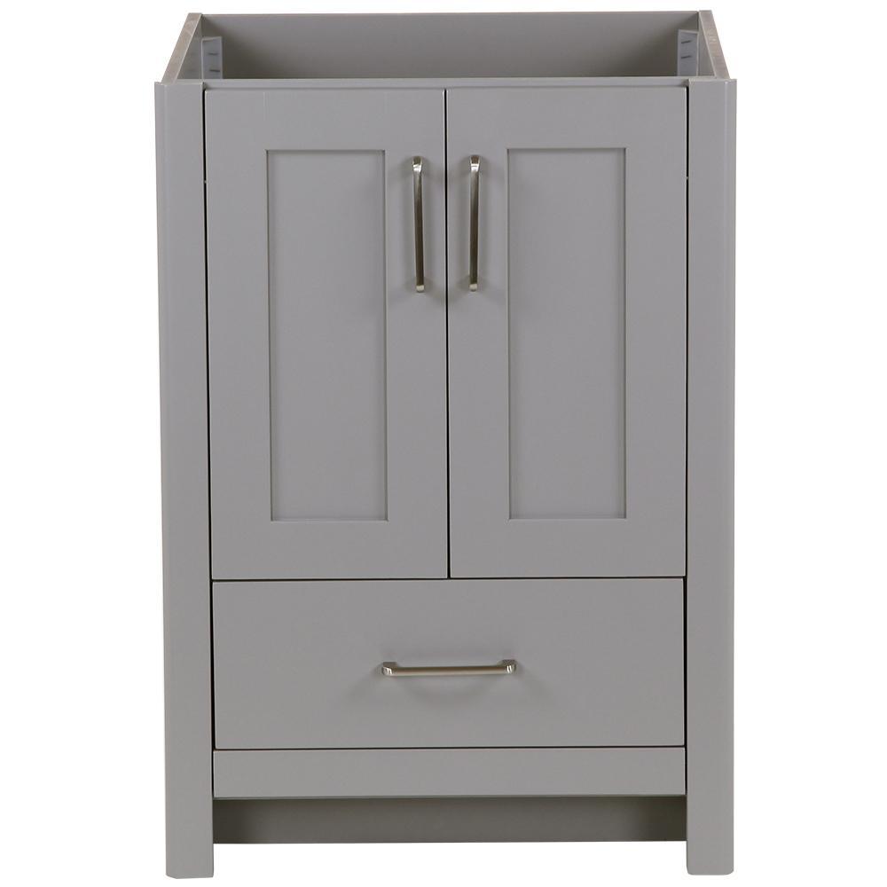 Westcourt 24 in. W x 22 in. D x 34 in. H Bath Vanity Cabinet Only in Sterling Gray