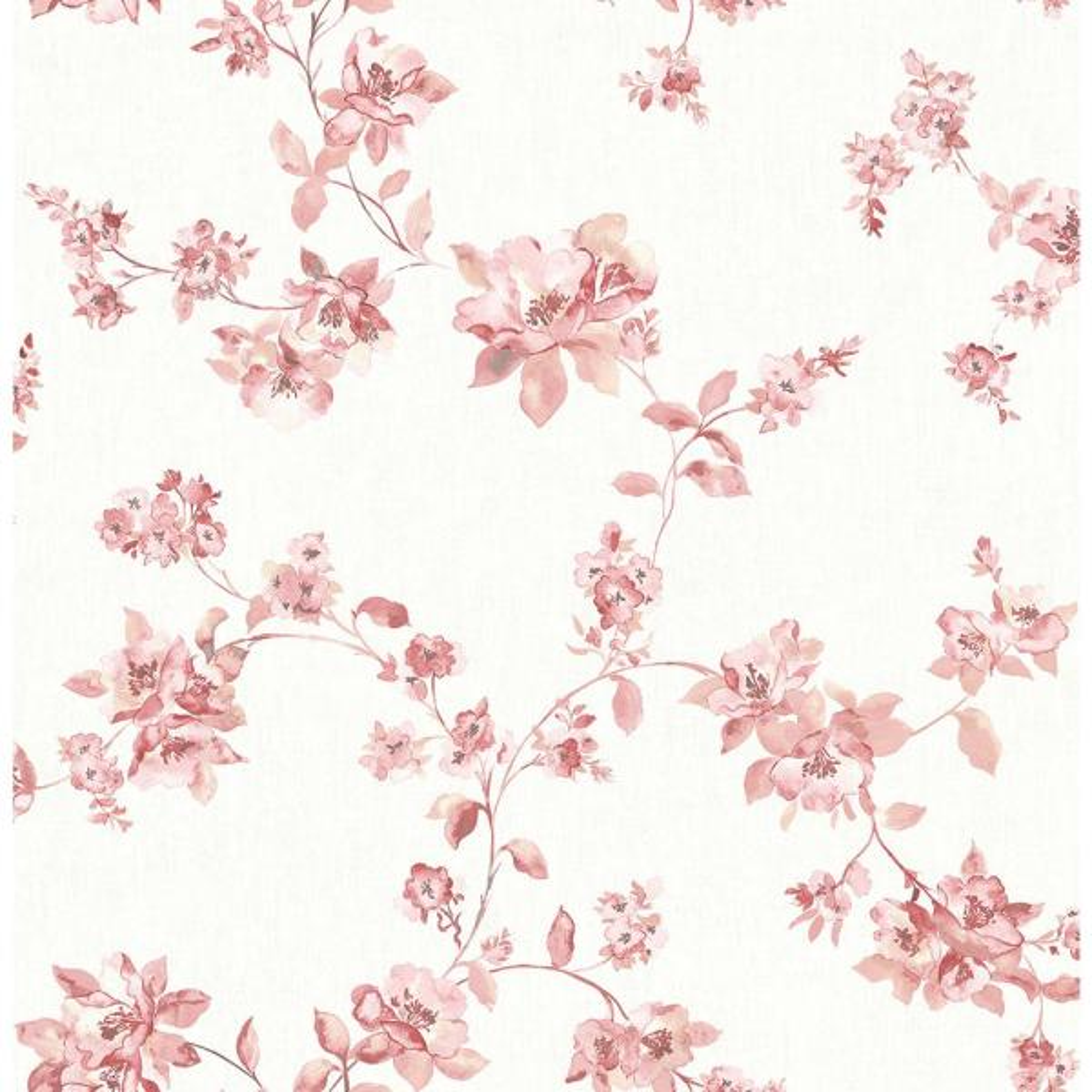 8 In X 10 In Cyrus Rose Floral Wallpaper Sample
