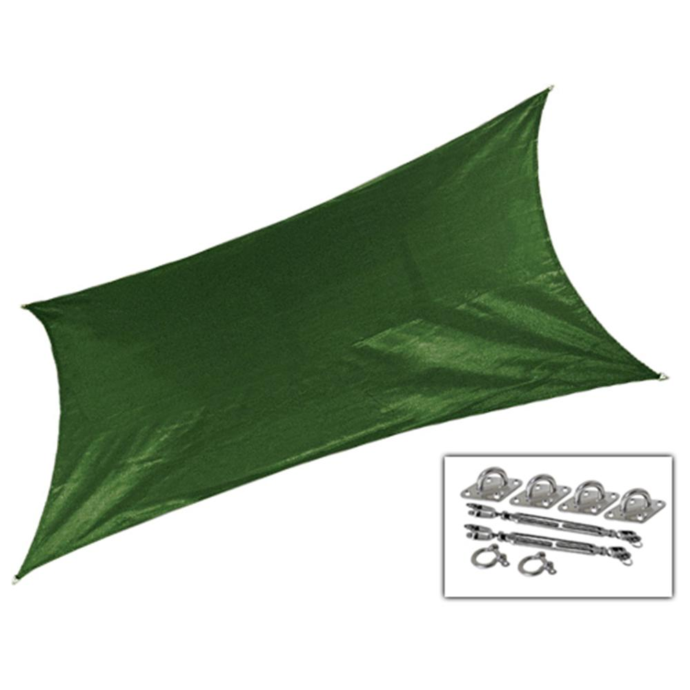 12 ft. x 10 ft. Olive Green Rectangle Ultra Shade Sail
