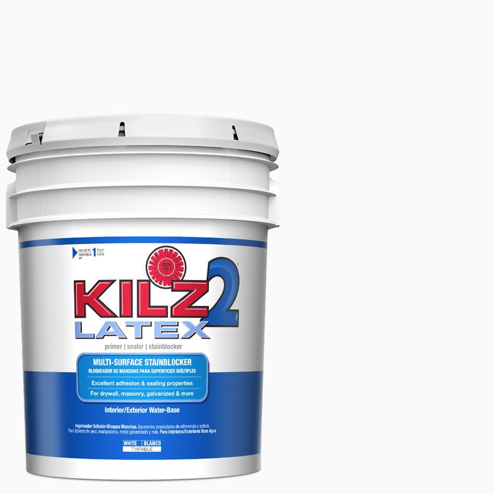Kilz 2 kilz 2 latex 5 gal white interior exterior multi - Kilz 5 gallon interior oil primer ...