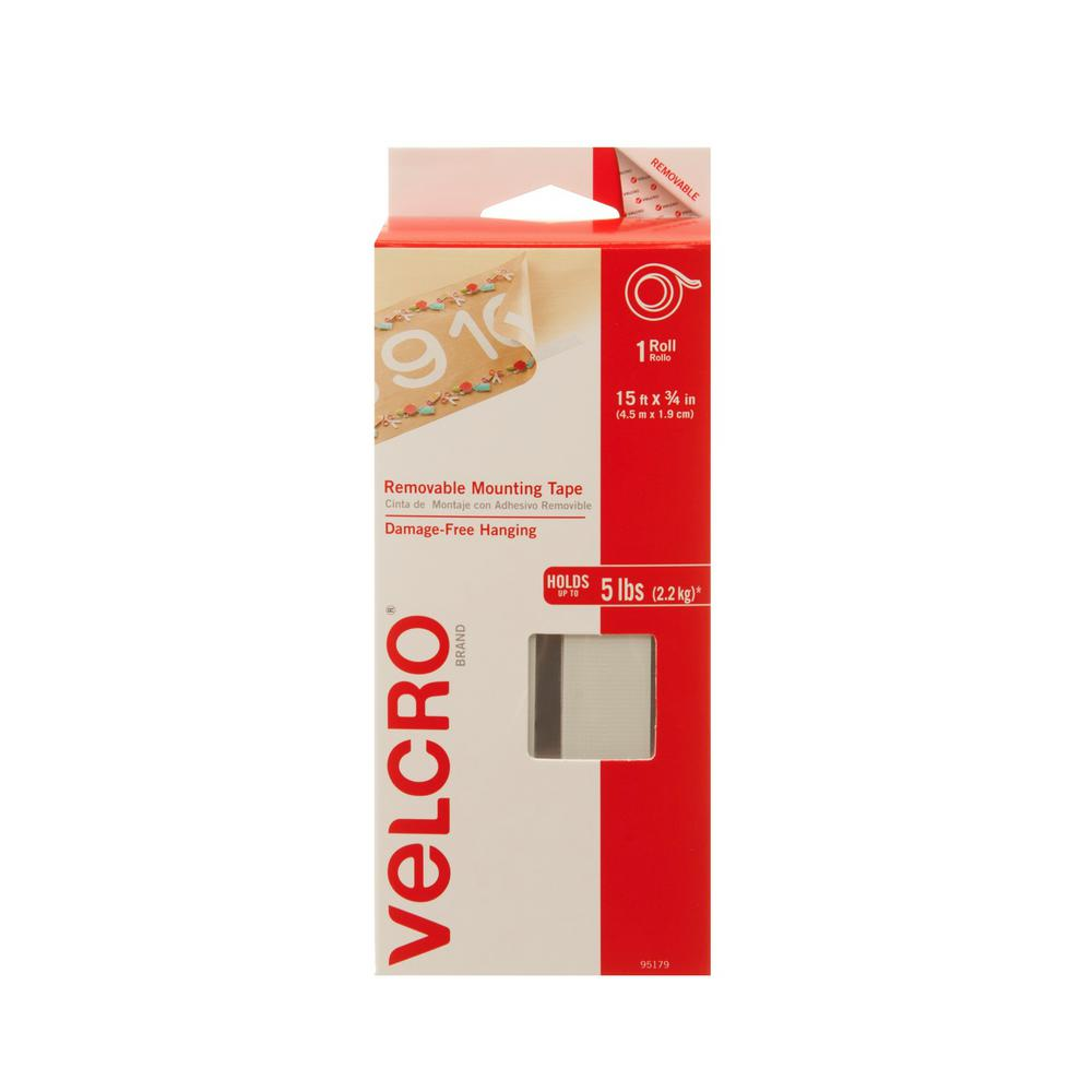 Velcro Brand 15 Ft X 34 In Removable Mounting Tape 95179 The