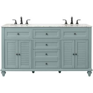 Home Decorators Collection Hamilton Shutter 61 inch W x 22 inch D Double Bath Vanity in... by Home Decorators Collection