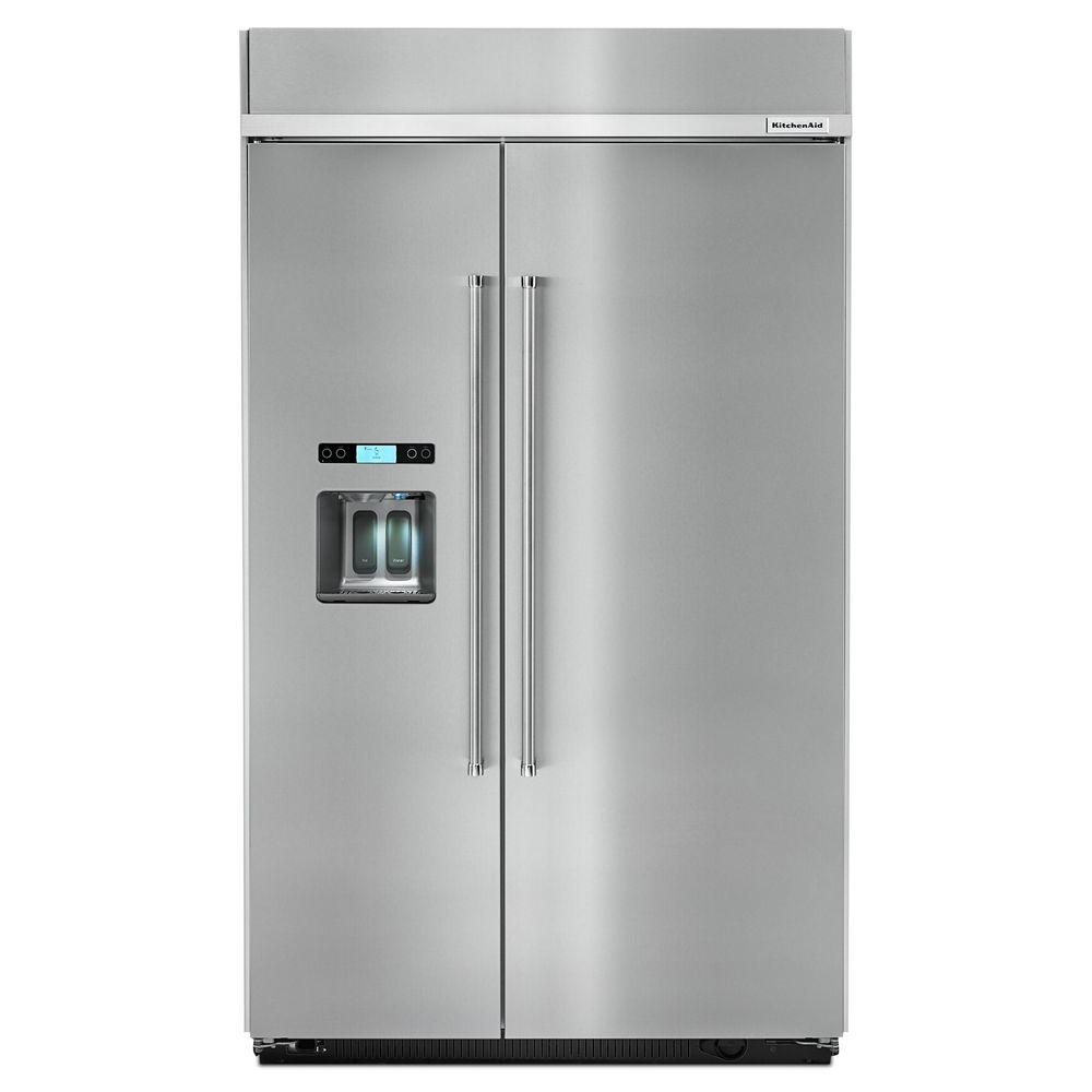 KitchenAid 48 in. W 29.5 cu. ft. Built-in Side by Side ...