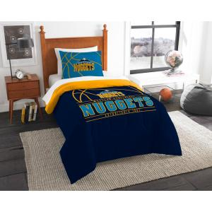 Nuggets 2-Piece Multi Color Polyester Reverse Slam Twin Comforter Set by