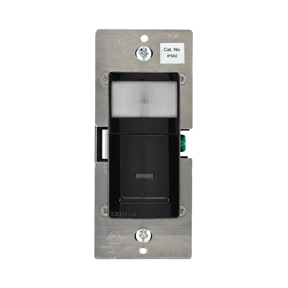 Leviton 180° Pir-Incandescent-CFL-LED Occupancy Detector, Black