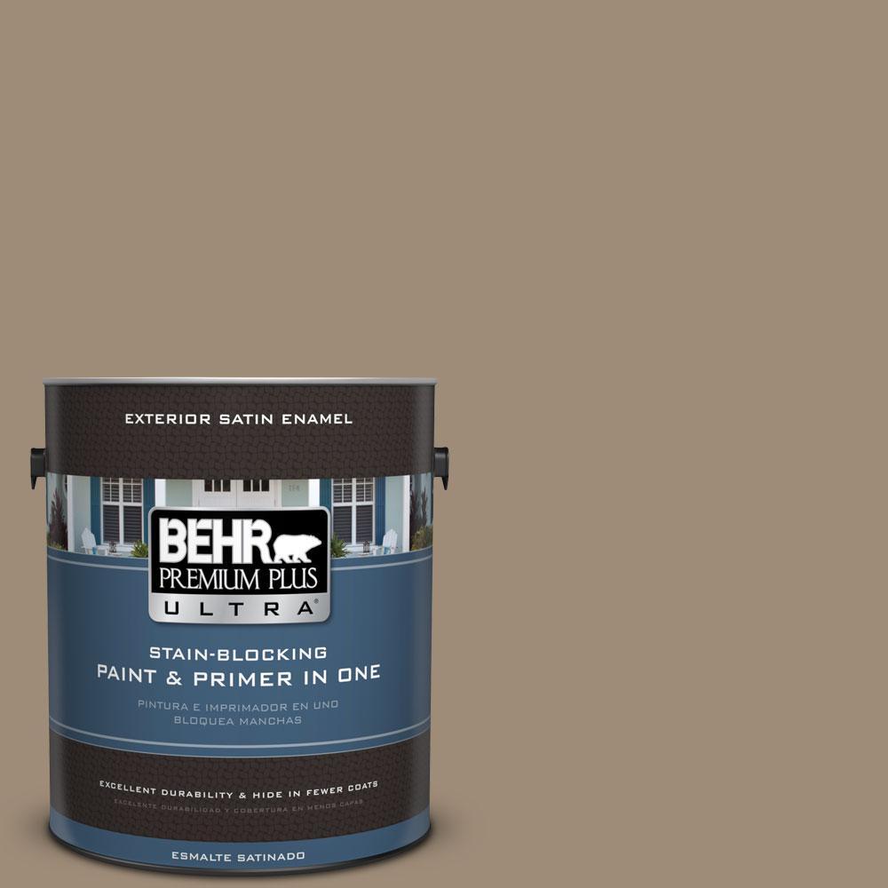 BEHR Premium Plus Ultra 1-gal. #ECC-17-1 Cottage Walk Satin Enamel Exterior Paint