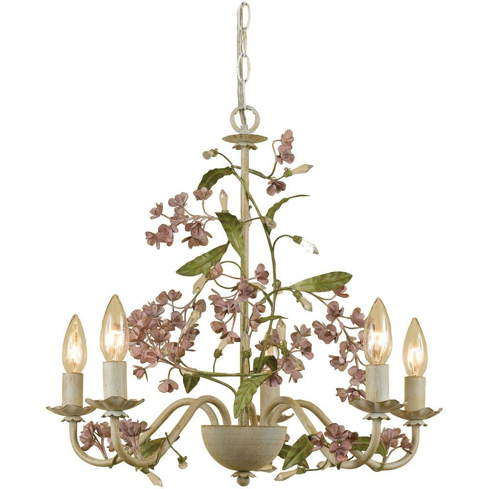 Af Lighting Grace 5 Light Cream Chandelier