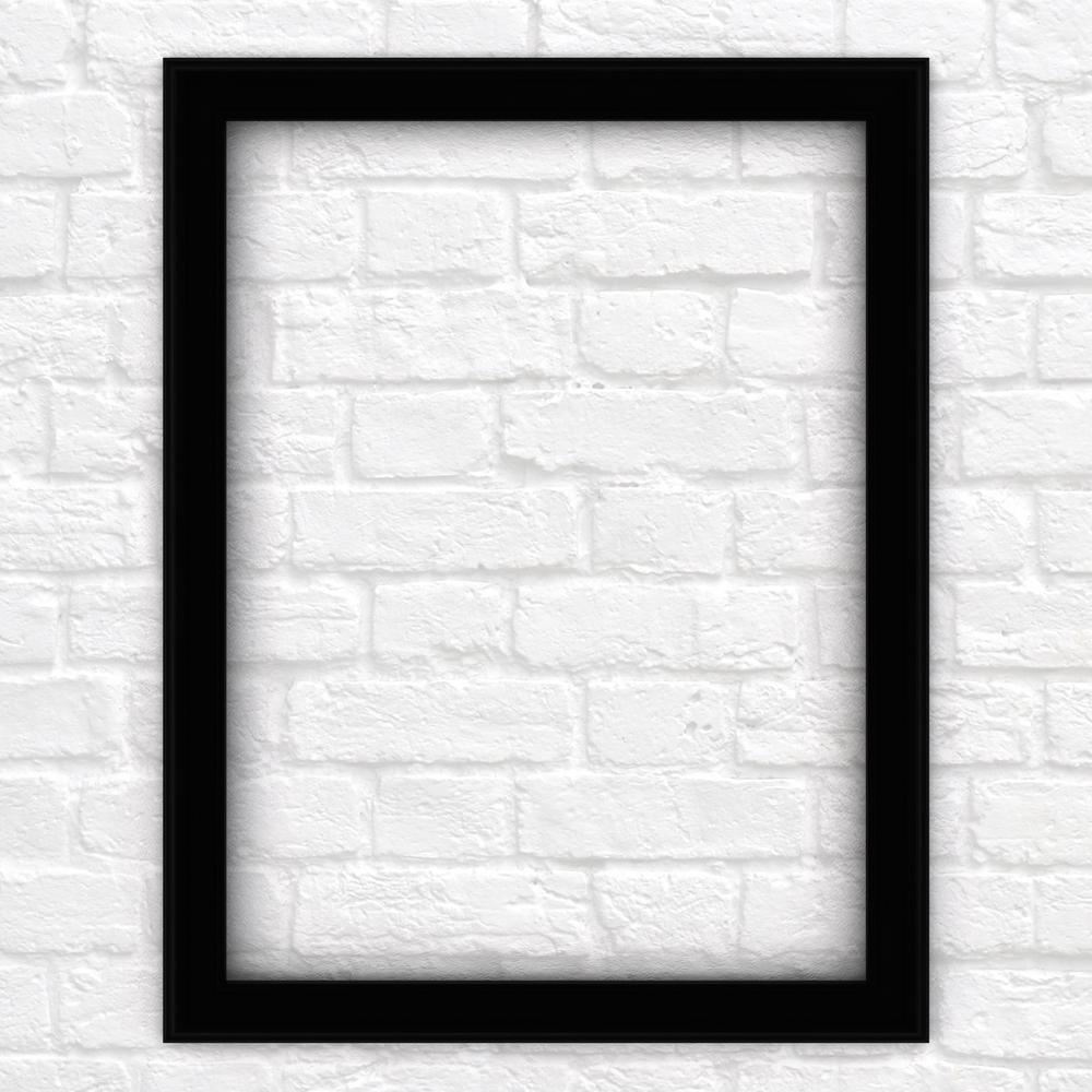 M1 Rectangular Mirror Frame In Matte Black