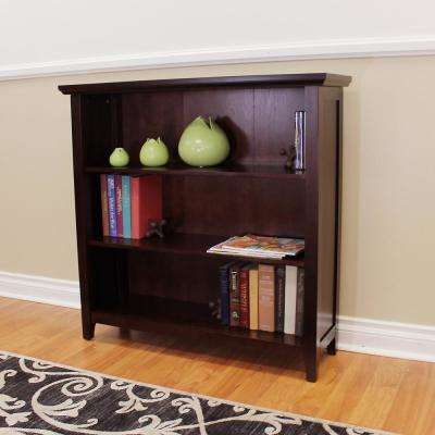 Lindendale 3-Shelf Espresso Bookcase