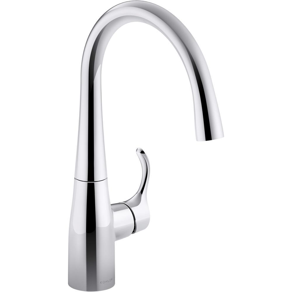 KOHLER Simplice Single-Handle Bar Faucet in Polished Chrome