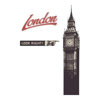 110.2 in. x 39.4 in. Big Ben Wall Decal