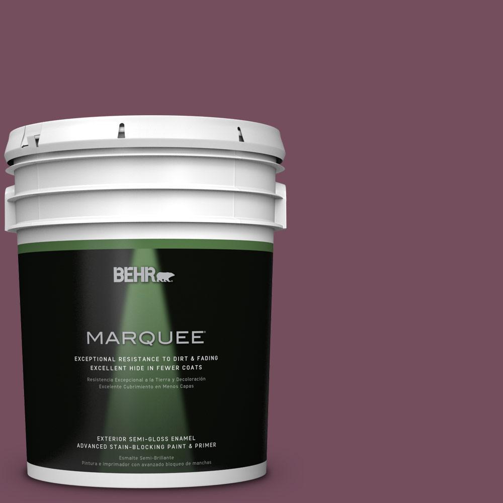 5-gal. #S120-7 Fine Wine Semi-Gloss Enamel Exterior Paint