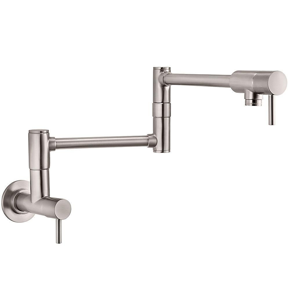 Pfister Lita Wall Mounted Potfiller In Stainless Steel Gt533 Pfs
