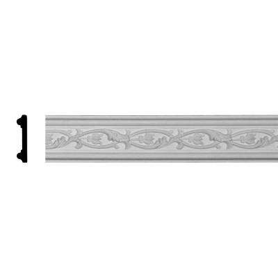 5/8 in. x 2-3/4 in. x 94-1/2 in. Polyurethane Medway Chair Rail Moulding