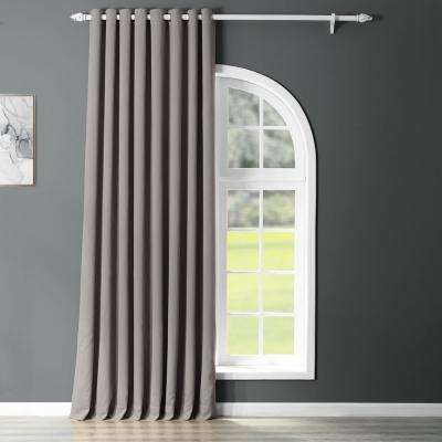 Semi-Opaque Neutral Grey Grommet Doublewide Blackout Curtain - 100 in. W x 108 in. L (1 Panel)