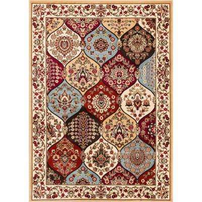 Barclay Wentworth Panel Ivory 8 ft. x 10 ft. Traditional Area Rug