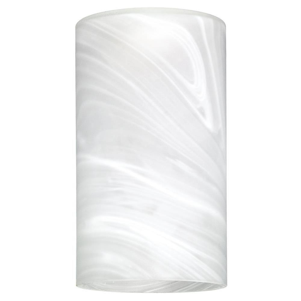 Hand Blown White Alabaster Large Cylinder Shade With