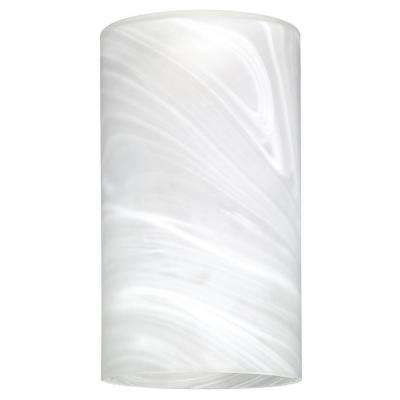 7-7/8 in. Hand-Blown White Alabaster Large Cylinder Shade with 2-1/4 in. Fitter and 4-5/8 in. Width