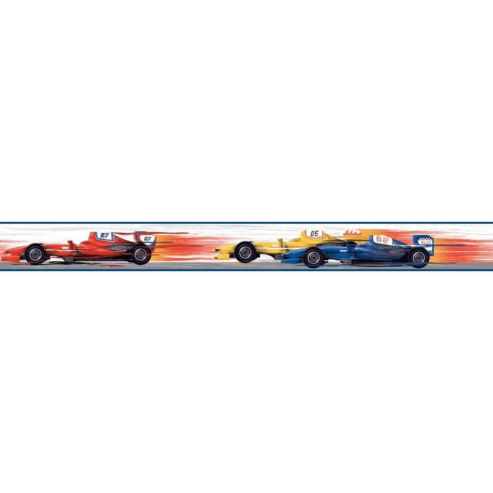 Cool Kids Race Car Wallpaper Border