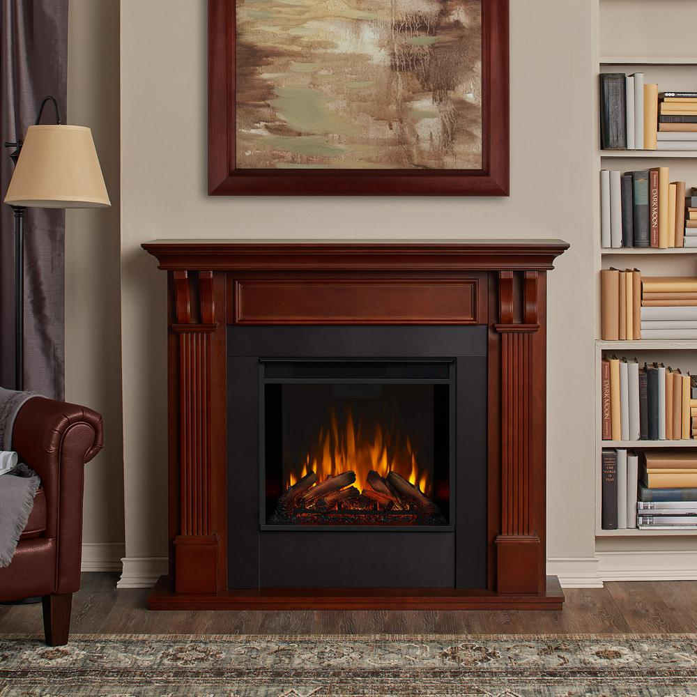 Electric Fireplace In Mahogany 7100e M