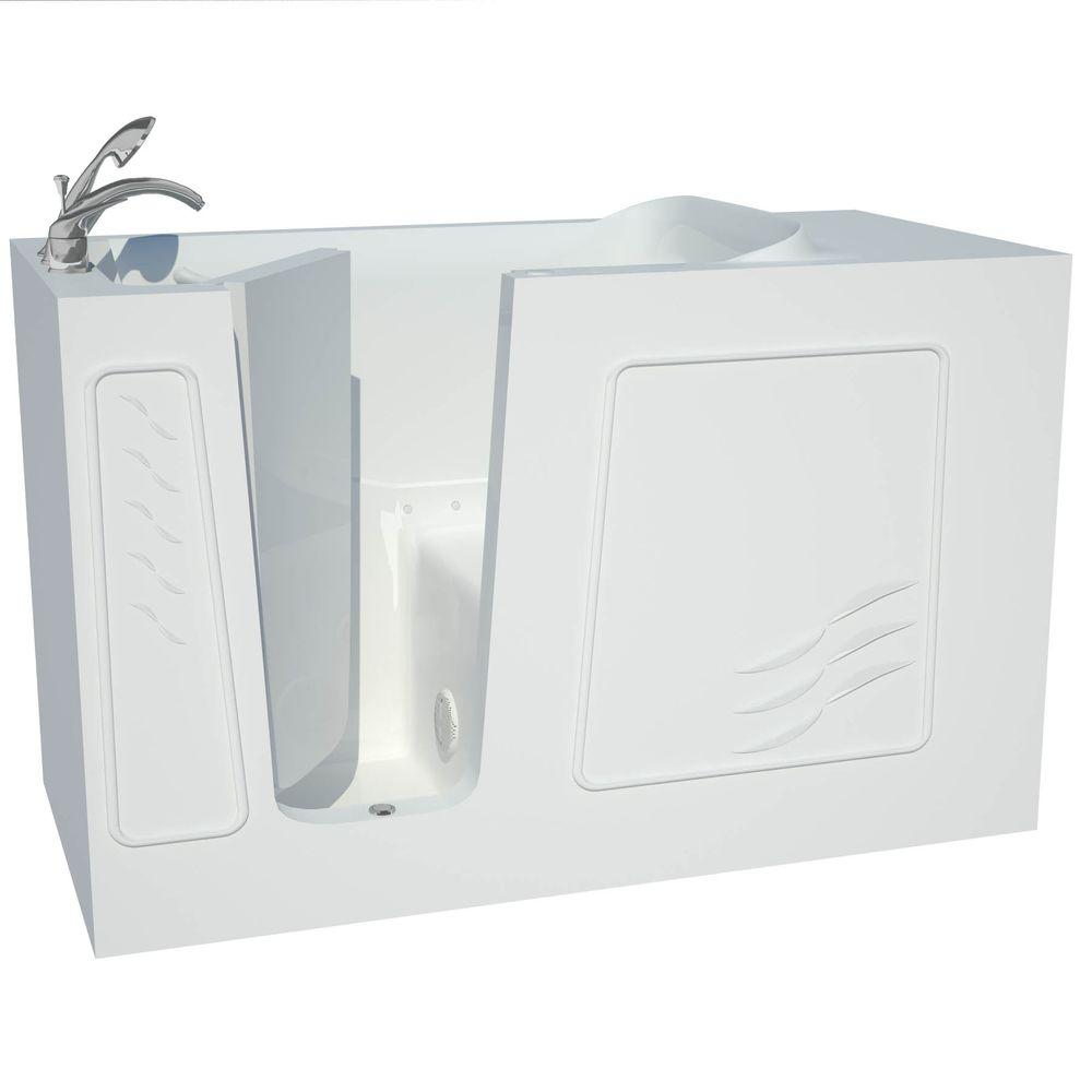 Contractor Series 5 ft. Left Drain Walk-In Whirlpool Air Bath Tub