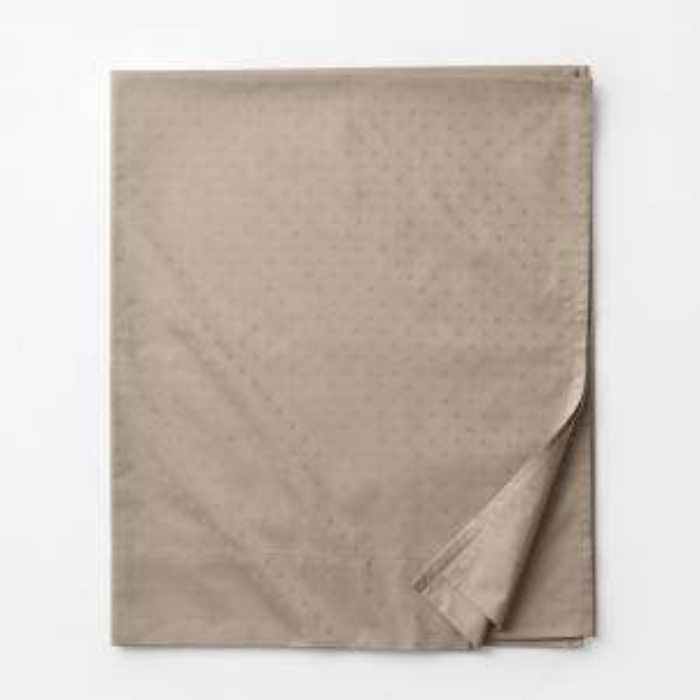 Legends Luxury Dot Cobblestone 500-Thread Count Cotton Sateen Full Flat Sheet