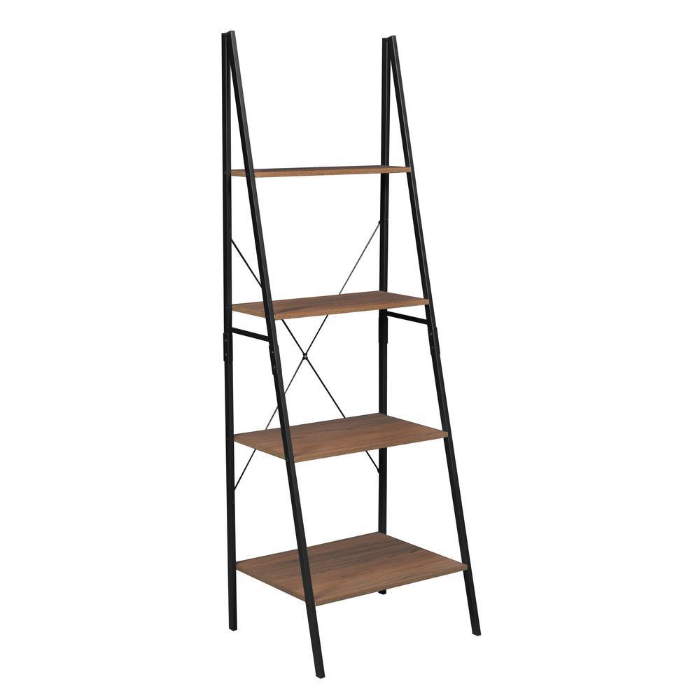 Urban Ladder Kitchen Shelf: Niche Soho Urban Walnut Ladder Bookcase-NSBC7224UW