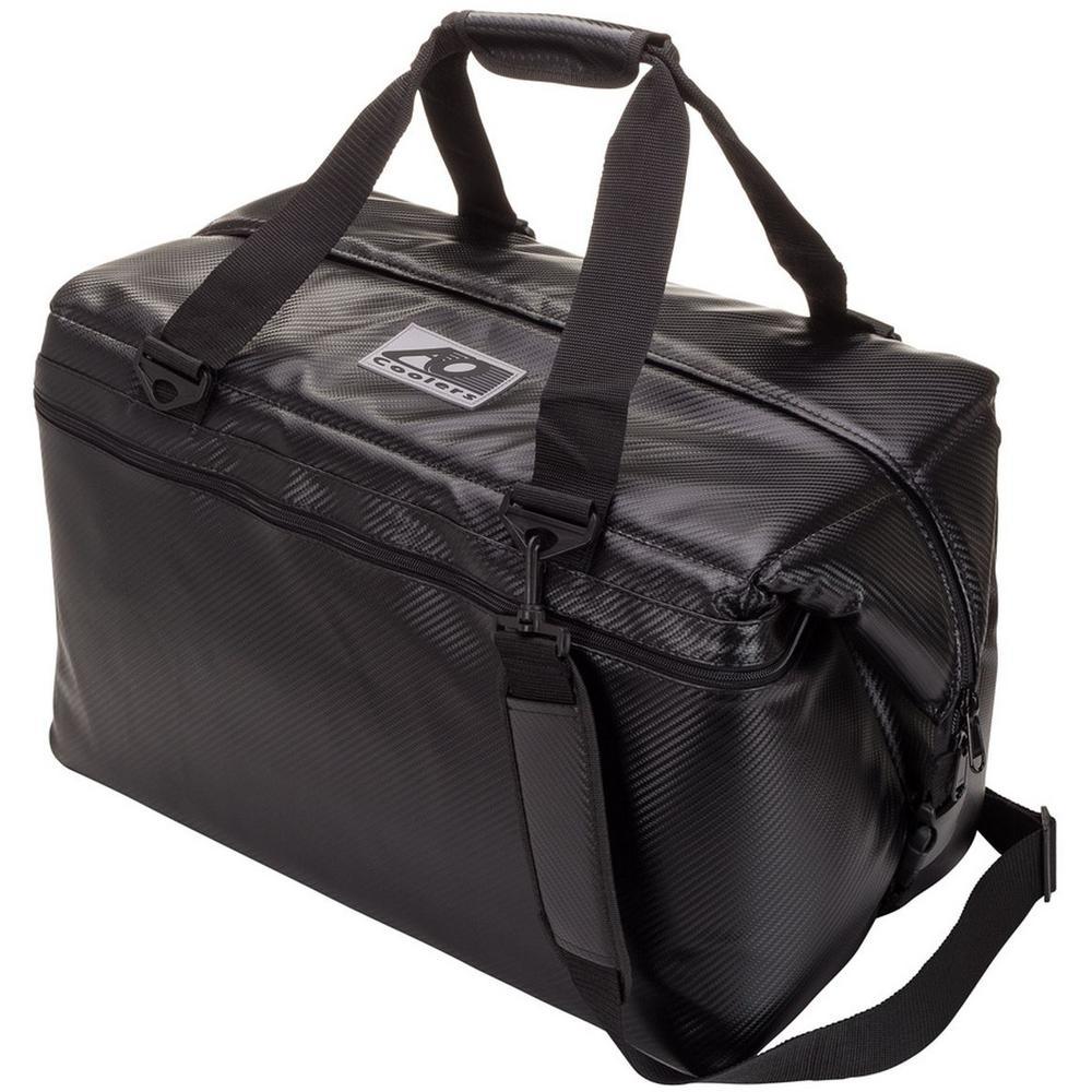 56 Qt. Carbon Cooler with Shoulder Strap and Wide Outside Pocket