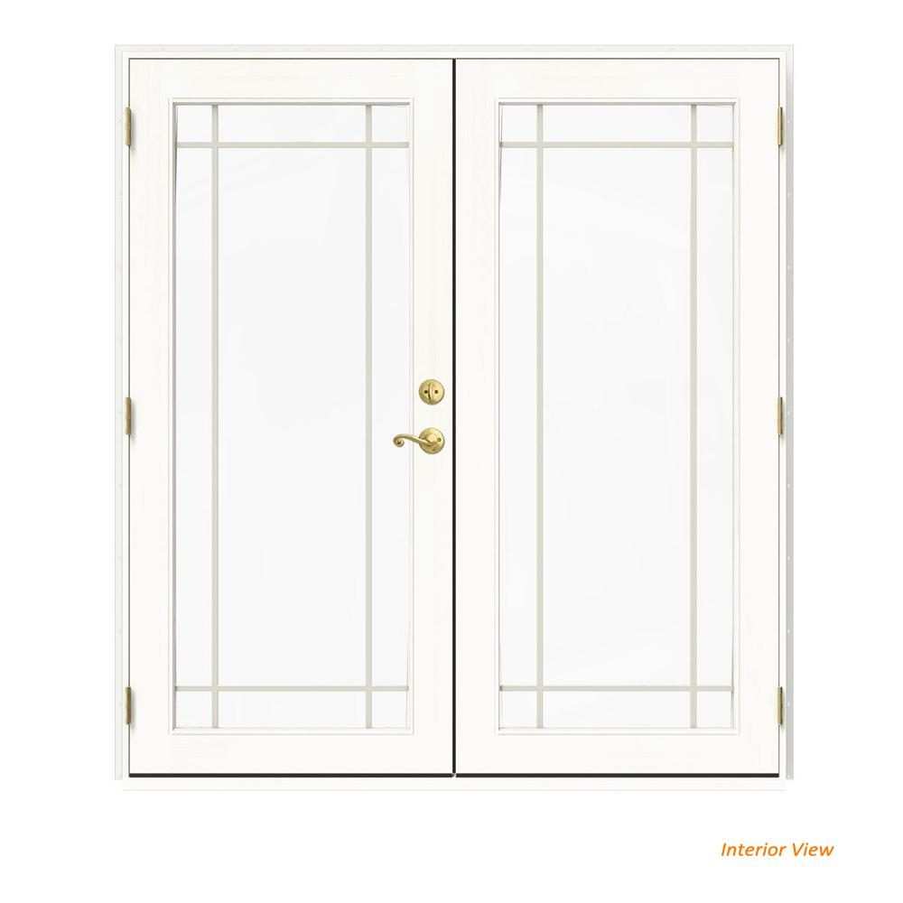 72 in. x 80 in. W-2500 White Clad Wood Right-Hand 9