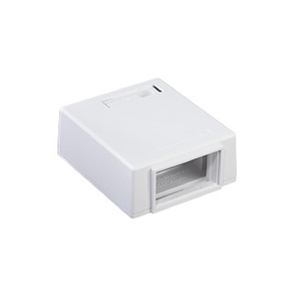 1-Unit Multimedia Outlet System (MOS) Surface Mount Box, White
